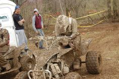 Gncc ATV racing.oh the mud & exhaustion