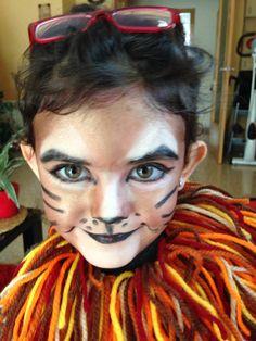 Lyon,leona,maquillaje,carnaval,maquillaje,leon,