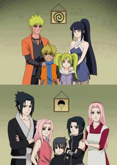 Naruhina and Sasusaku family fan art
