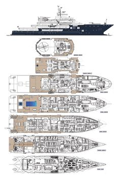 ULYSSES – All deck plans. Fraser Yachts – Ibrahim – Join the world of pin Yacht Design, Boat Design, Deck Plans, Boat Plans, Luxury Houseboats, Trawler Boats, Explorer Yacht, Expedition Yachts, Yacht Interior