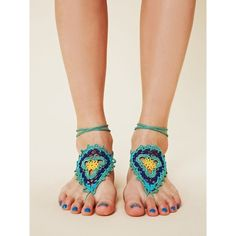 I want these!!  Crochet sun foot ties from Free People