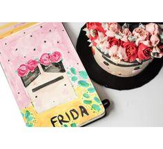 This is the sketch of Frida Kahlo- cake. Cake Illustration, Edible Art, Cake Art, Sketch, Phone Cases, Inspiration, Frida Kahlo, Sketch Drawing, Biblical Inspiration