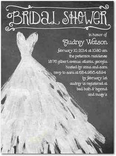 Bridal shower draw wedding dress on chalkboard