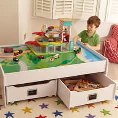 23 Best Train Tables With Storage Images Child Room Train Table