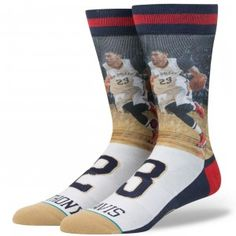 Stance Men's New Orleans Pelicans Anthony Davis Future Legends Crew Socks (Navy, Size Large) - Pro Licensed Product, Pro Licensed Novelty at Academ. Basketball Shorts Girls, Adidas Basketball Shoes, Training Kit, Red Vans, Anthony Davis, New Orleans Pelicans, Sock Shop, Designer Socks, Cool Socks