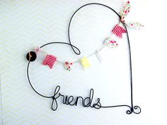Personalized Heart Shaped Name Sign Custom Wire by kraze4paper, $35.00
