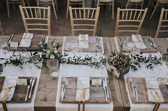 tavola matrimonio rustico