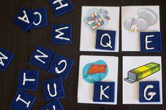 Letter Tiles Busy Bag (older preschoolers & young grade schoolers)