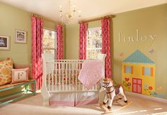 Baby Girls Nursery Pink Green White Design, Pictures, Remodel, Decor and Ideas - page 10