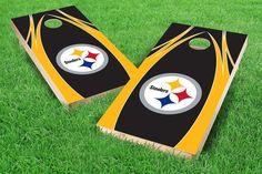 Pittsburgh Steelers Cornhole Board Set - The Edge (w/Bluetooth Speakers)
