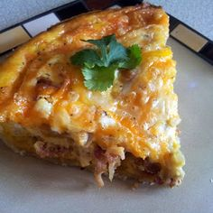 Breakfast Quiche recipe.. i would swap out the swiss for a Mexican blend cheese.
