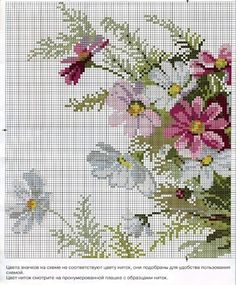 flower cross stitch chart