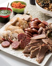 Bollito Misto (sausages, chicken, and shanks poached in a highly seasoned, rich and savory broth)  WOW!
