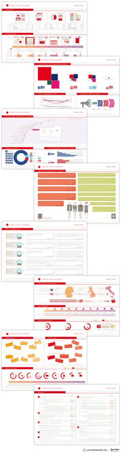 Infographics Collection by Marco Bagni, via Behance