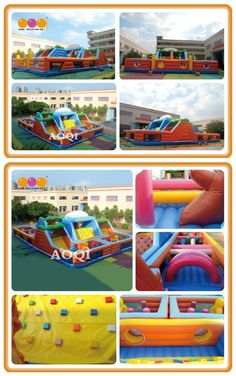 AQ01431-1(20.5X13.5x6M/67.26'*44.29'*19.69') This big inflatable obstacle course give a happy and memorable childhood to all the children in the world.