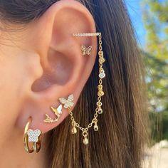 Ear Jewelry, Cute Jewelry, Body Jewelry, Jewelry Gifts, Girls Earrings, Women's Earrings, Stylish Jewelry, Fashion Jewelry, Unique Ear Piercings