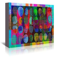 """East Urban Home '16B21 Blend' by Marian Nixon Graphic Art on Wrapped Canvas Size: 24"""" H x 30"""" W x 1.5"""" D"""
