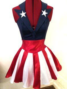 Captain America USO girl inspired dress avengers winter soldier