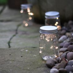Our mason jar with fairy lights is perfect for illuminating areas at your wedding. Each mason jar comes with 10 white LED lights and a silver lid (battery power Pew Ends, White Led Lights, Fairy Lights, Mason Jars, Dreams, Weddings, Wedding, Mason Jar