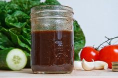 Dijon Vinegarette Recipe  My favorite salad dressing is 2 tablespoons balsamic vinegar and 2 tablespoons of red wine vinegar mixed with 1 tablespoon of Dijon mustard and garlic powder to taste.  Pour all ingredients in a jar and shake to mix.  Yummy!!!  Vegan recipe!