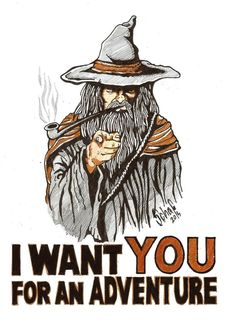 I want YOU for an Adventure by lill-chan on DeviantArt Legolas, Gandalf, O Hobbit, Dungeons And Dragons Classes, Cultura Nerd, Little Misfortune, Jrr Tolkien, Pen And Paper, Norse Mythology