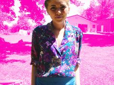 Vintage Women's 80's Pink Purple Blue Floral by RepeatClothing, $25.00