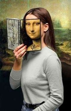 mona lisa by me Mona Lisa Smile, Monnalisa Kids, Lisa Gherardini, La Madone, Mona Lisa Parody, Classic Paintings, Optical Illusions, Portrait, Funny