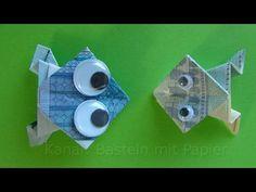 Geldscheine falten Frosch - Originelle Geldgeschenke basteln z.B. Hochzeit - YouTube