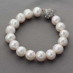 Bridal Bracelet Pearl Wedding Bracelet Natural by EtsyJewelryStory