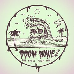 The Doom Wave Cometh... #jamiebrowneart #doom #wave #shred #ridethedeath #swell…