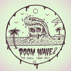 The Doom Wave Cometh... #jamiebrowneart #doom #wave #shred #ridethedeath #swell…
