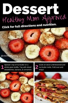 Healthy Dessert Fruit Quesadilla - 21 Day Fix Recipe