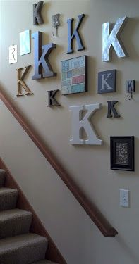 So going to do this going up our stairs. Love this!