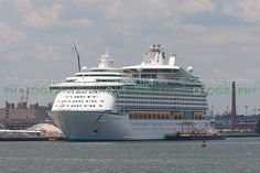 Royal Caribbean cruise ship Explorer of the Seas docked at the Cape Liberty Cruise Port in Bayonne
