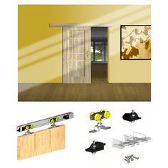 Komplet do drzwi przesuwnych Valcomp Herkules - Wózki do prowadnic - Systemy przesuwne - Drzwi do zabudowy - Przechowywanie - Urządzanie