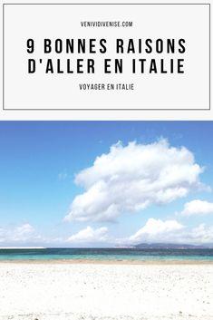 Voici mes 9 bonnes raisons d'aller en #Italie parce que c'est la destination idéale pour les #vacances ou pour un #voyage (en solo ou à plusieurs). Même si on n'a jamais besoin d'excuses pour se rendre dans le Bel Paese, j'espère qu'elles te donneront envie de découvrir ou de redécouvrir le plus beau pays du monde :) #voyager #voyagerseule #voyageensolo #voyagerensolo #Italia #travel #Italy #blog #blogging