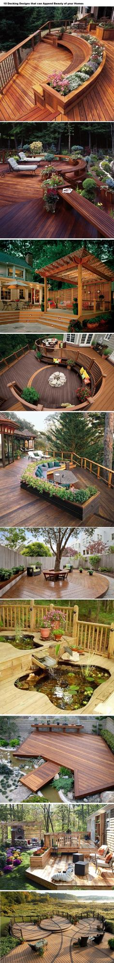 10 Decking Designs that can Append Beauty of your Homes | WoodworkerZ.com