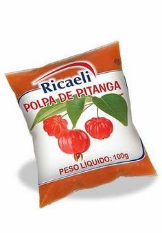 A Polpa de Fruta Ricaeli sabor Pitanga é um produto 100% Natural, é Distribuída pela Fruit Mix em embalagens de 100g e 1Kg (10 unidades de 100g)