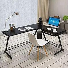 L Shaped Computer Desk #ComputerDesks #OfficeProducts #DesksandWorkstations