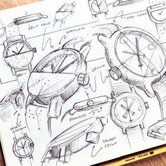 "1,138 Me gusta, 12 comentarios - Nicholas Baker (@nickpbaker) en Instagram: ""sunday sketchin' some watches for this week's #weeklydesignchallenge . . . . .…"""