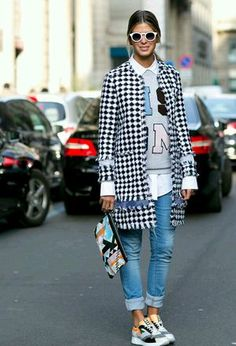 Look by @leysteff with #sneakers #zara #forever21 #chanel #cardigans #sporty #sweaters #urban #trendy #clutches #graysweaters #turquoisepants #plaidcoats.