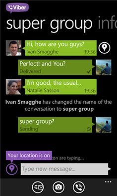 Viber for Windows Phone 7.5 too updated with HD calling support.