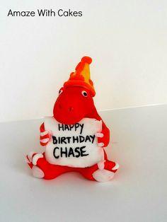 Fondant Dinosaur Cake Topper by AmazeWithCakes on Etsy