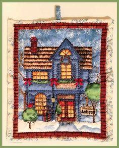 Voglio il mondo a colori - Quadretto natalizio in stoffa americana