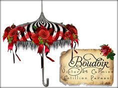 3ff7af134f Second Life Marketplace - Victorian Parasol-Carmine Cotillion