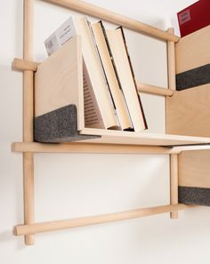 Wall-mounted sectional #bookcase FOLDIN by E#MKO UAB | design