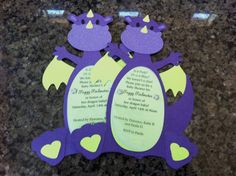 dragon invitations.