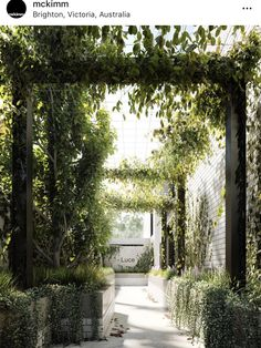 What an entrance! Greenery brings with it a sense of calm, maybe that's why this week I feel more relaxed? Thank you Spring, you're the best! Facade House, You're Awesome, Luxury Apartments, Decoration, Paths, Greenery, Entrance, Sidewalk, Exterior