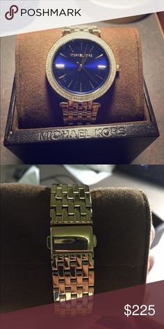 Hi this is a Michael kors watch called Darci It truly is beautifully the flat navy blue of the face is exceptional. I've never even gotten the chance to wear it. It's so lovely I hate to sell it but I'm a college student who needs money for books :( Michael Kors Jewelry Bracelets