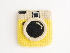 Crochet Diana Yellow Glow Coin Purse Size 5 inch by meemanan, $18.00